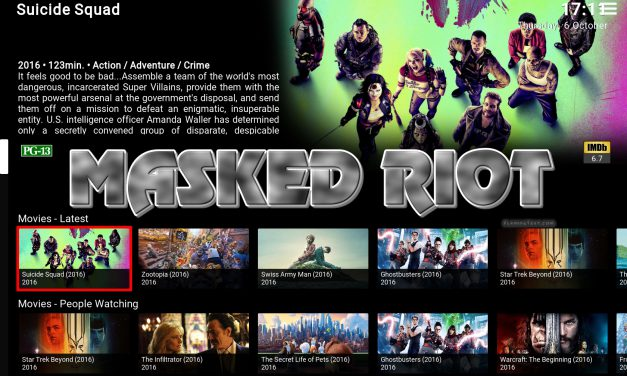 MASKED RIOT 2 – AWESOME CUSTOM KODI BUILD